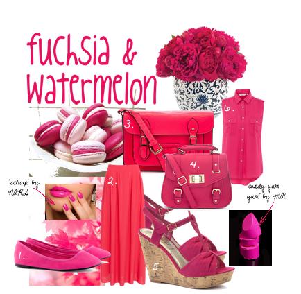 fuchsia & watermelon.