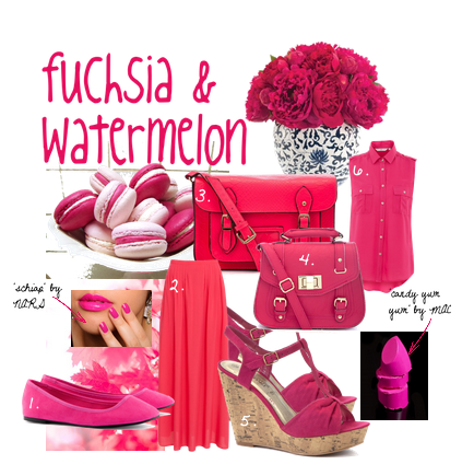 fuchsia & watermelon.