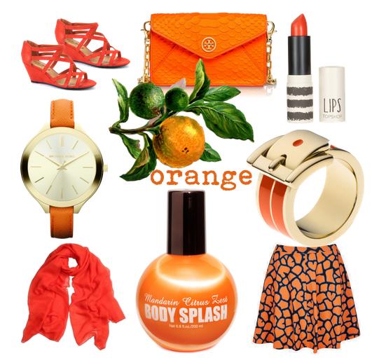 flame-coloured orange.