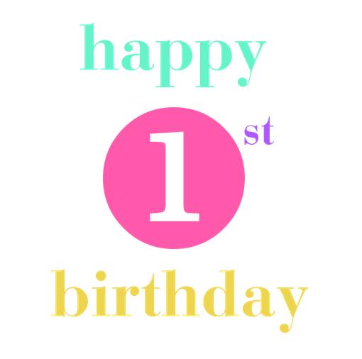 first birthday.