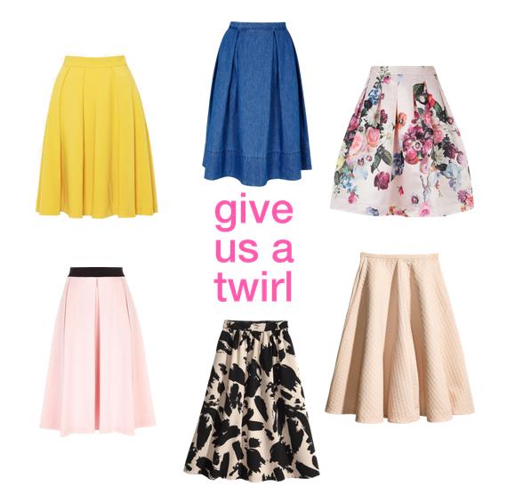 full skirts.